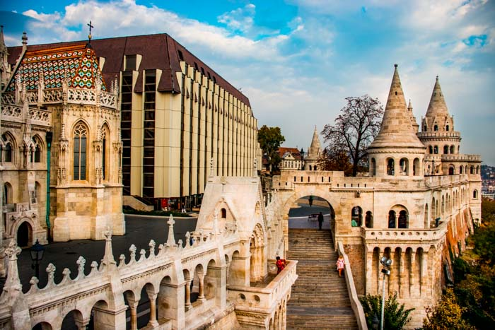 Fisherman's Bastion and Hilton Hote