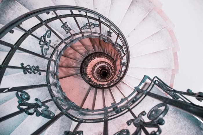 Spiral staircase of St. Stephen's Basilica