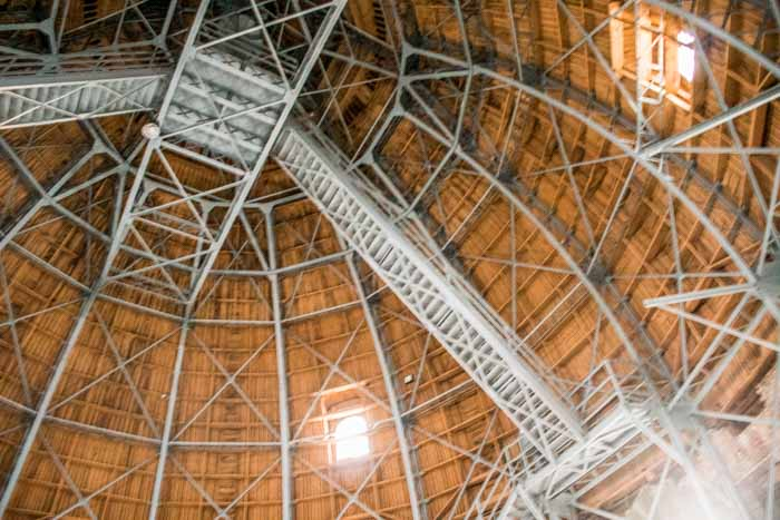 The roof structure of St. Stephen's Basilica