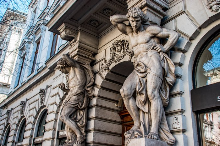 Beautiful statues of Andrássy Avenue