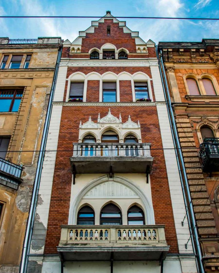 Narrowest house of Budapest