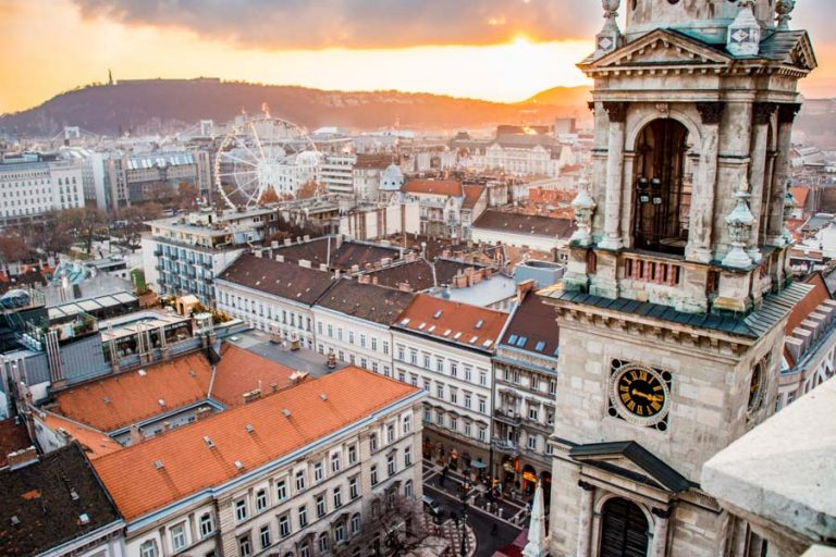Budapest city view from St. Stephen's Basilica
