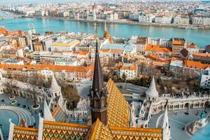 Budapest view from the Matthias Church