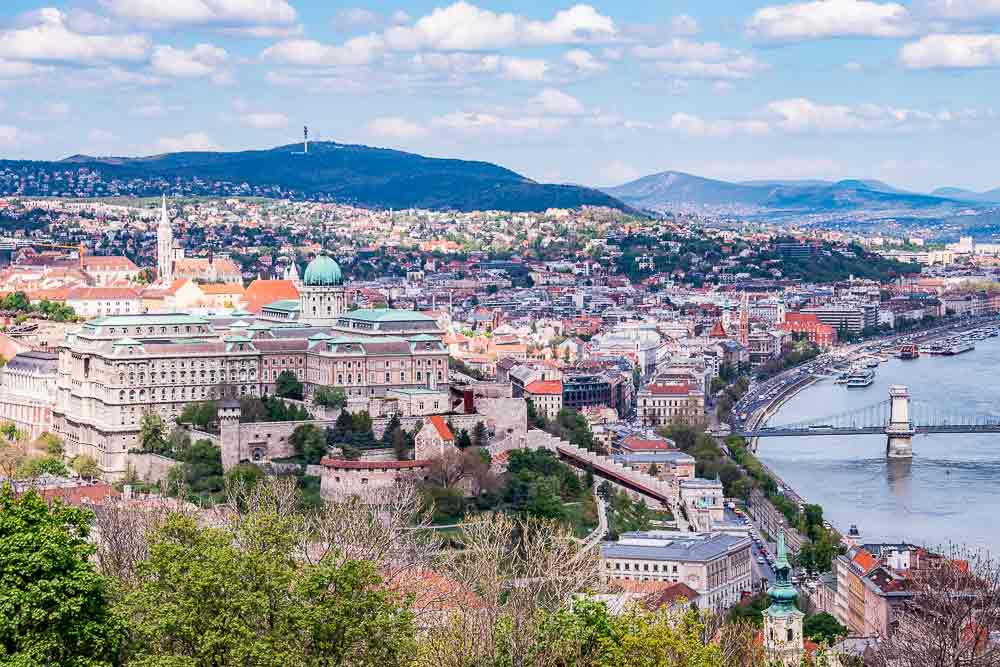 Panorma of Buda from Gellért Hill