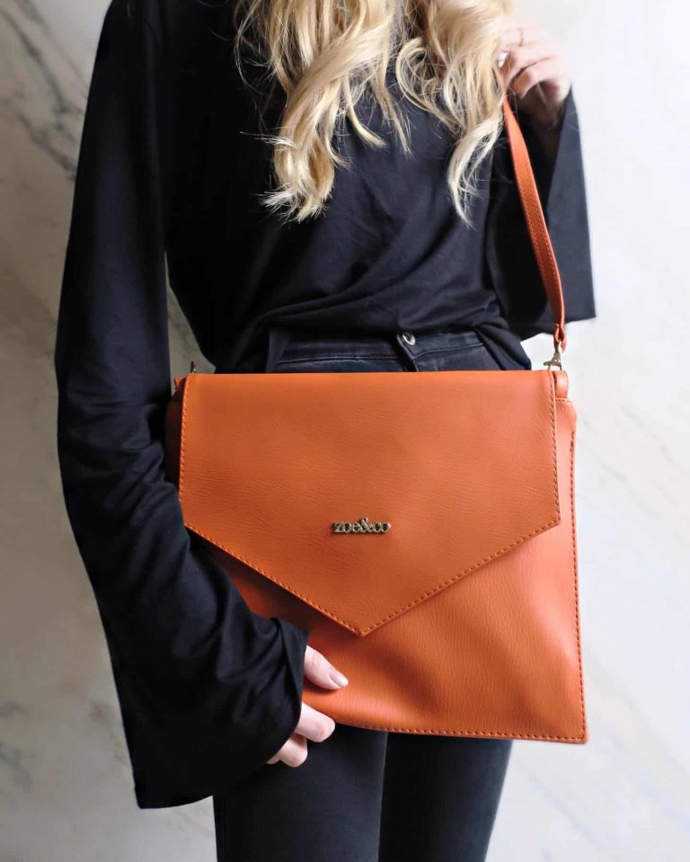 Zoe&Co brown faux leather crossbody bag