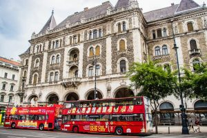 3 days in Budapest - tourist buses on Andrássy street