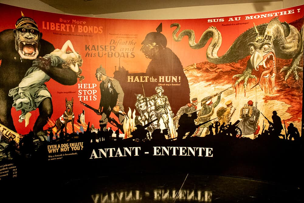 Antant - Entente poster in the exhibition on ww1