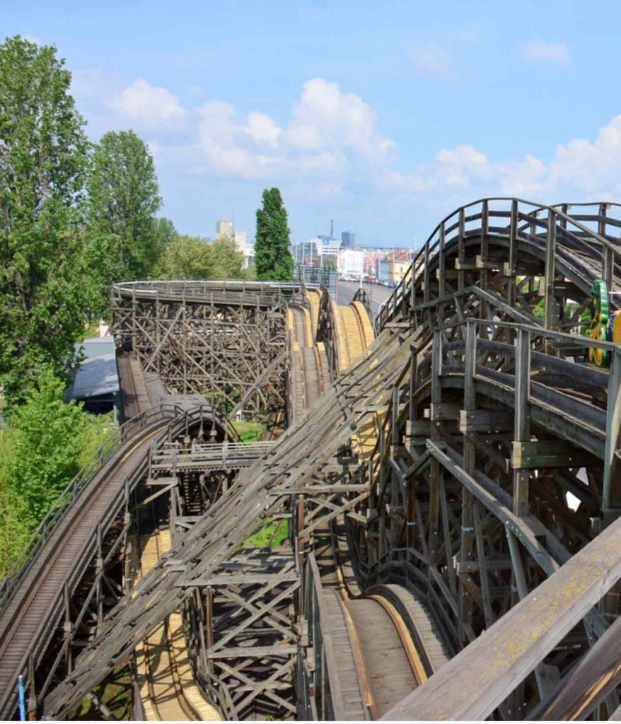 Wooden Roller Coaster in Budapest Zoo