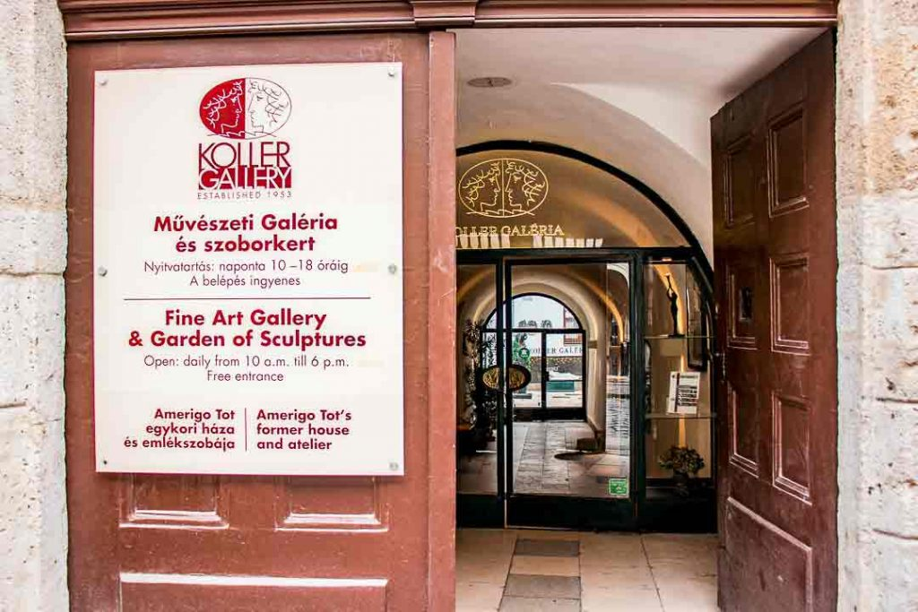 Entrance of Koller Gallery