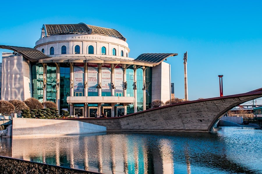 Budapest parks: park of the national theatre