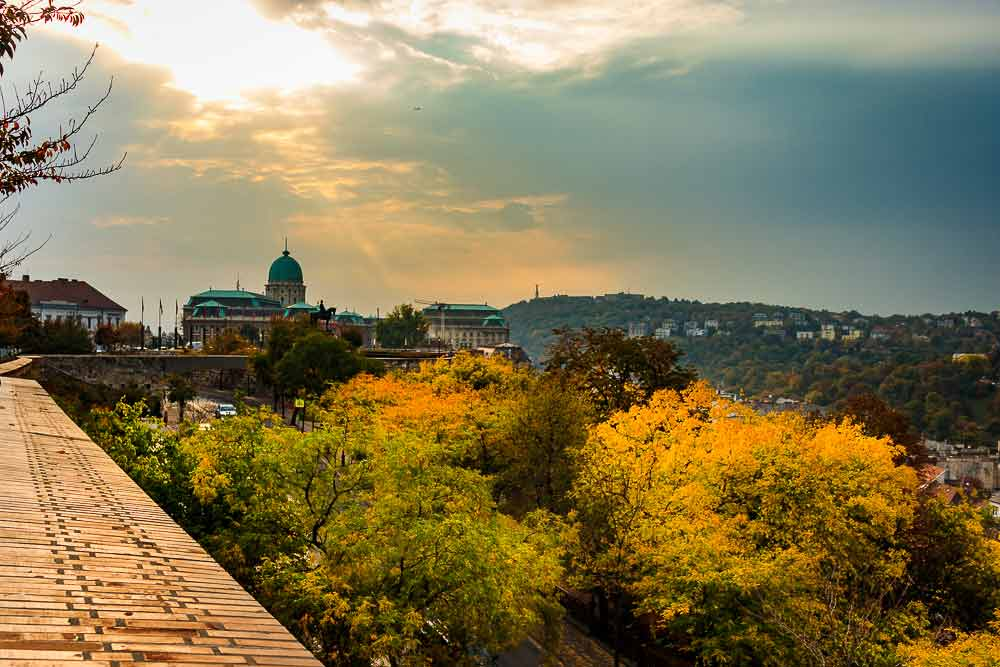 Budapest Castle District in Fall