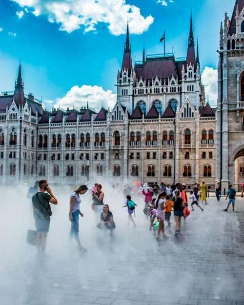 Hungarian Parliament in summer